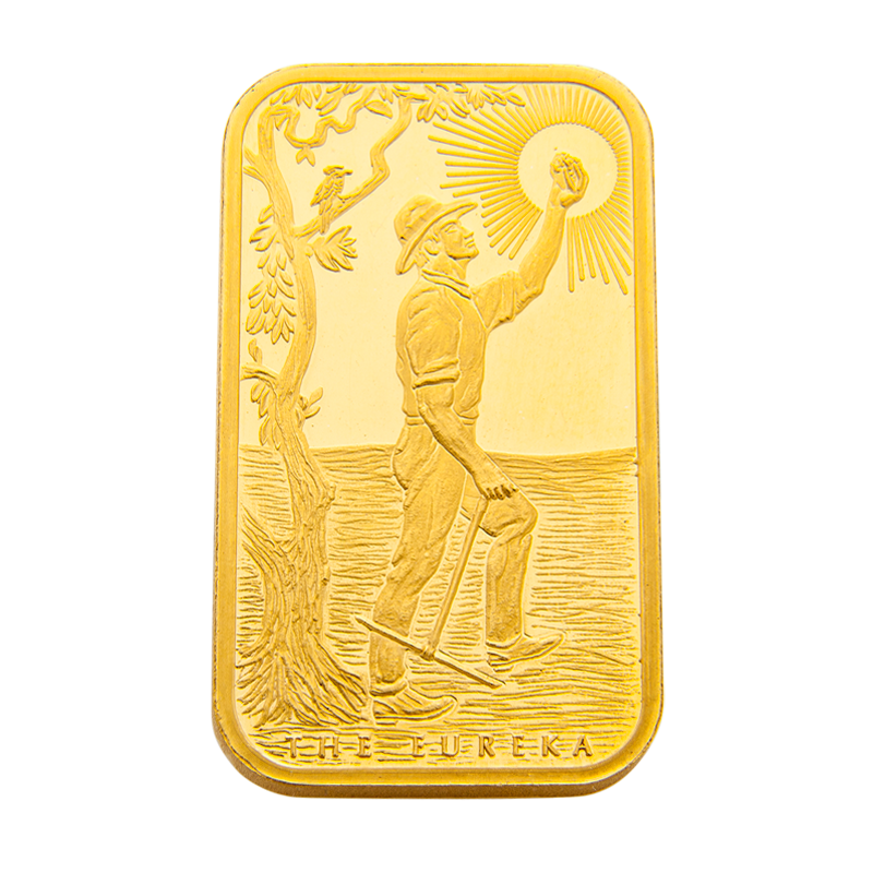 5 oz ABC Bullion Eureka Gold cast bar