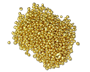 Close-up image of gold granules